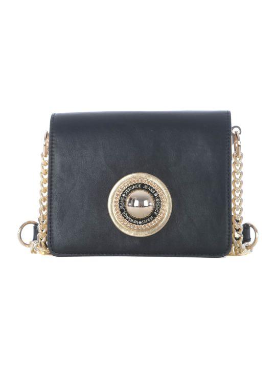 Versace Logo Embellished Shoulder Bag