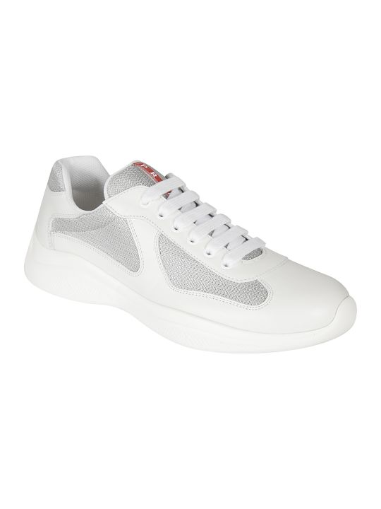 Prada Linea Rossa Logo Tongue Laced-up Sneakers