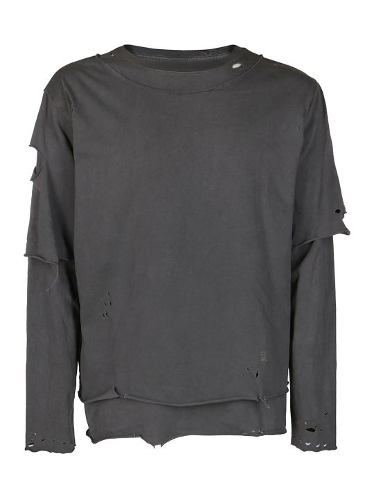 C2h4 Distressed Jersey Sweatshirt