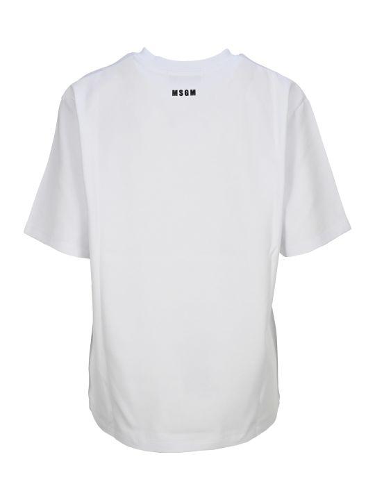 MSGM Slogan Print T-shirt