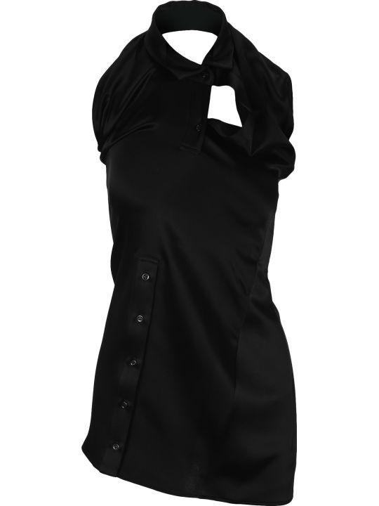 Y/Project Halterneck Asymmetric Mini Dress