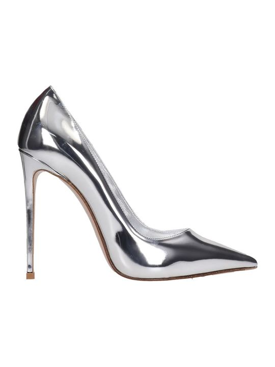 Le Silla Pumps In Silver Leather