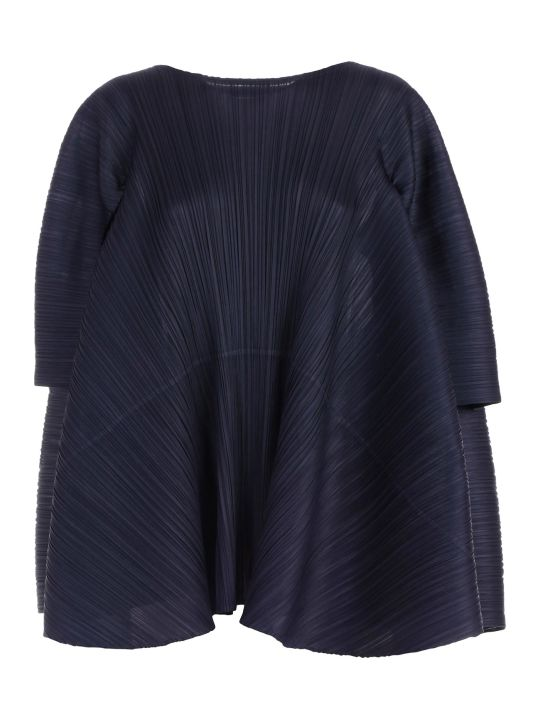 Pleats Please Issey Miyake Dress L/s Short Crew Neck