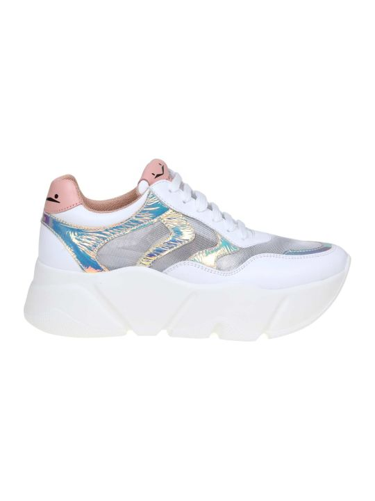 Voile Blanche Voile Banks Sneakers Monster In Leather And Tulle