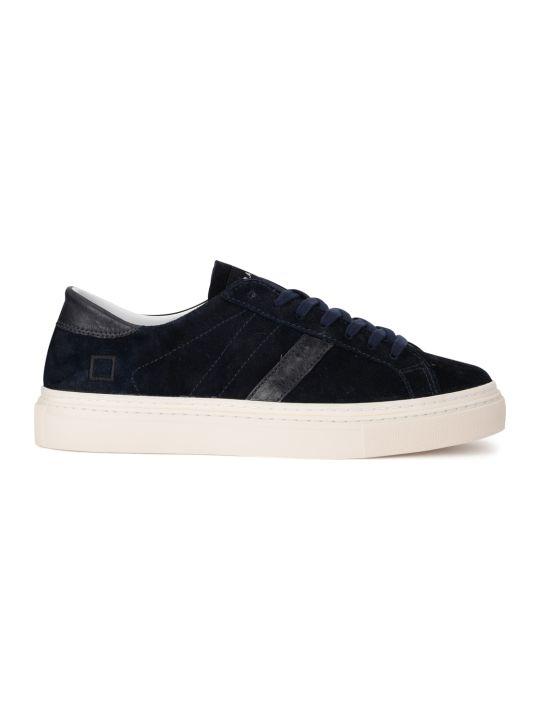 D.A.T.E. Lax Velour Dark Blue Suede Sneaker