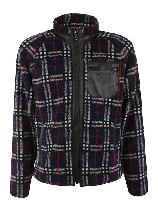 Burberry Check Zipped Sweater