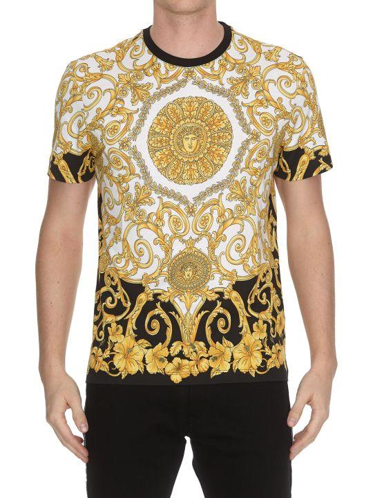 Versace Gold Hibiscus T-shirt