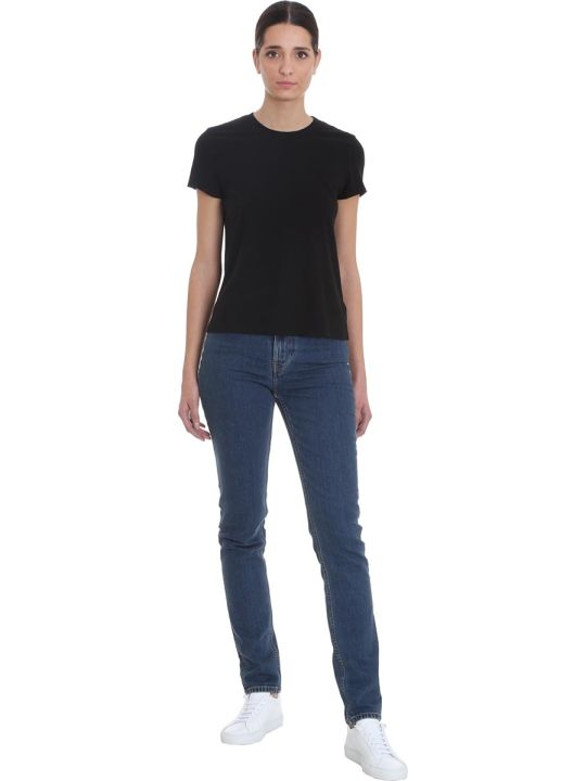 James Perse T-shirt In Black Cotton