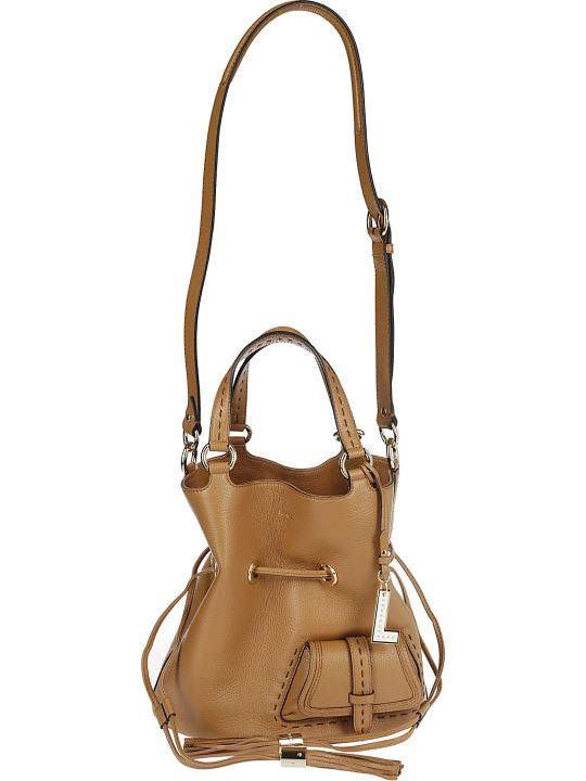 Lancel Camel Satchel Bag