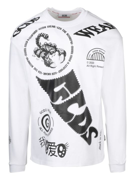 GCDS Elements Long Sleeves T-shirt