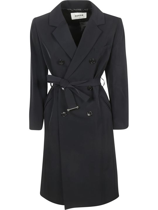 Zucca Double Breasted Button Trench