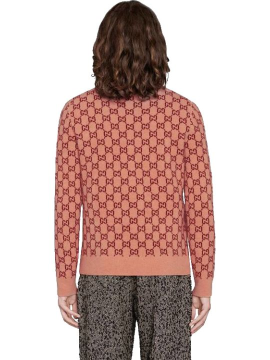Gucci V Neck Monogram Jumper