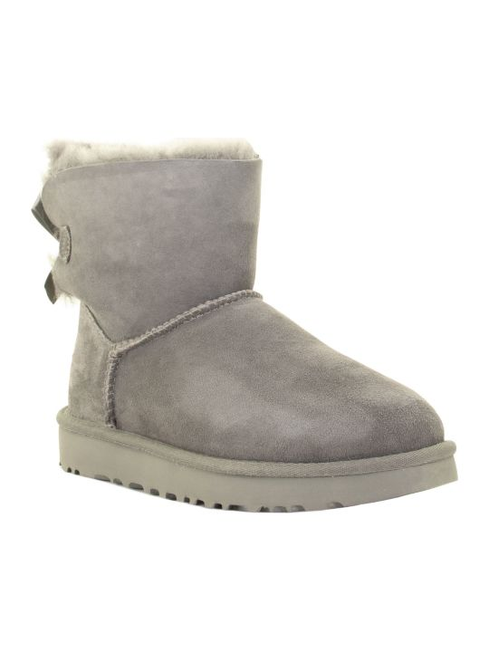 UGG Mini Bailey Bow Ii Grey Boots