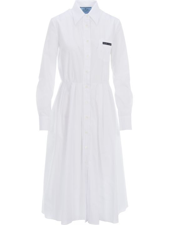 Prada Pleated Shirt Style Dress