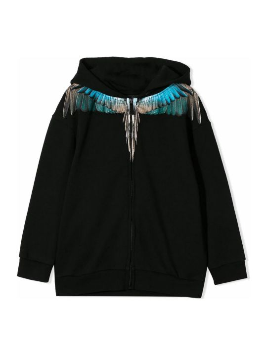 Marcelo Burlon Black Cotton Sweatshirt