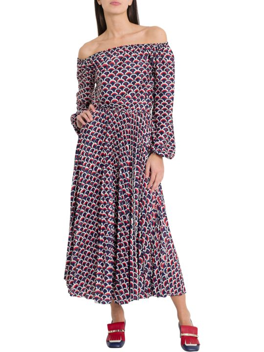 Valentino All-over Lettering Logn Dress