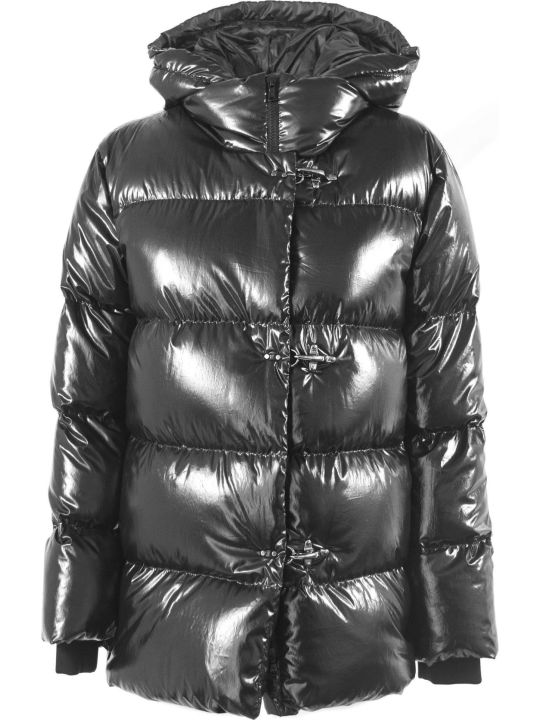 Fay 3 Hooks Black Down Jacket