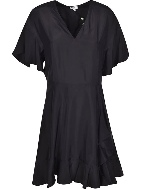Kenzo Ruffle Trim Dress