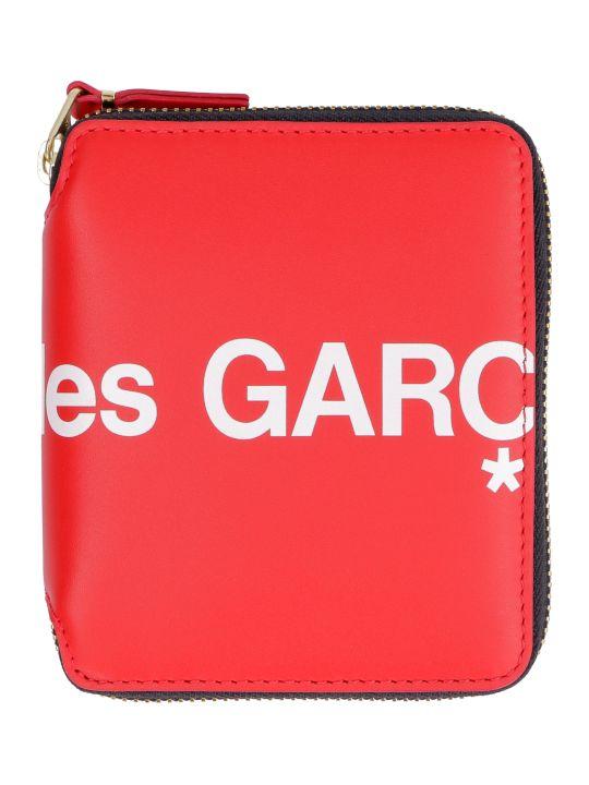 Comme des Garçons Wallet Huge Leather Zip Around Wallet
