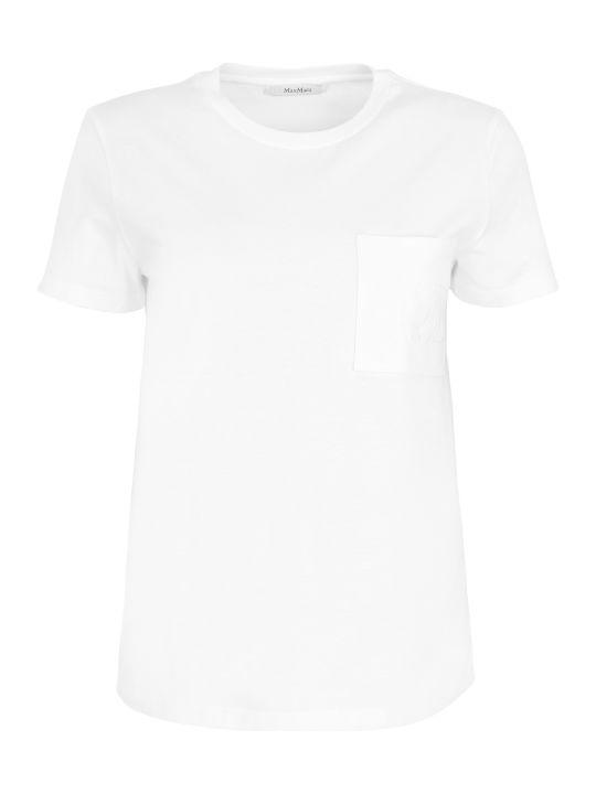 Max Mara Vicario Cotton T-shirt With Chest Pocket