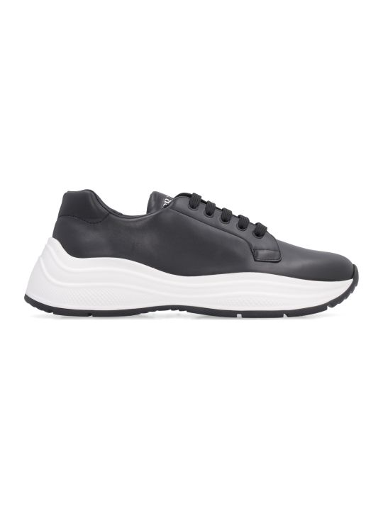 Prada Linea Rossa Leather Low-top Sneakers