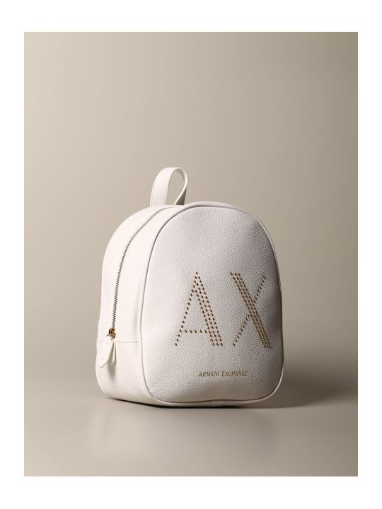 Armani Collezioni Armani Exchange Backpack Armani Exchange Backpack In Synthetic Leather With Studded Logo