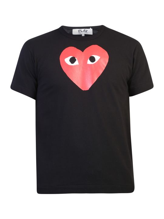 Comme des Garçons Play Printed Cotton T-shirt