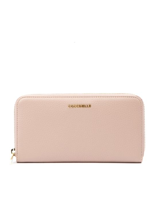 Coccinelle Metallic Soft Peony Leather Wallet