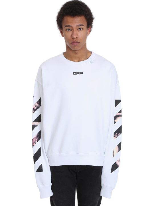 Off-White Caravaggio Arro Sweatshirt In White Cotton
