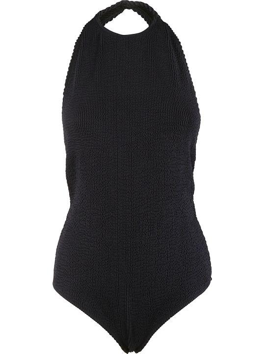Bottega Veneta Low-cut Krinkle Swimsuit