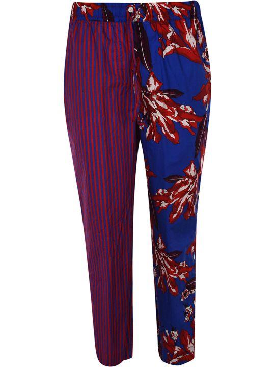 Parosh Floral Striped Trousers