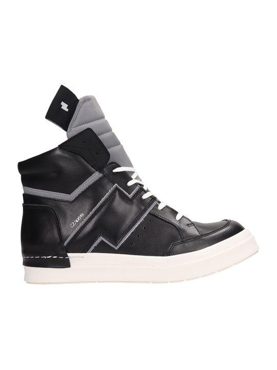 Cinzia Araia Black Leather High-top Sneakers