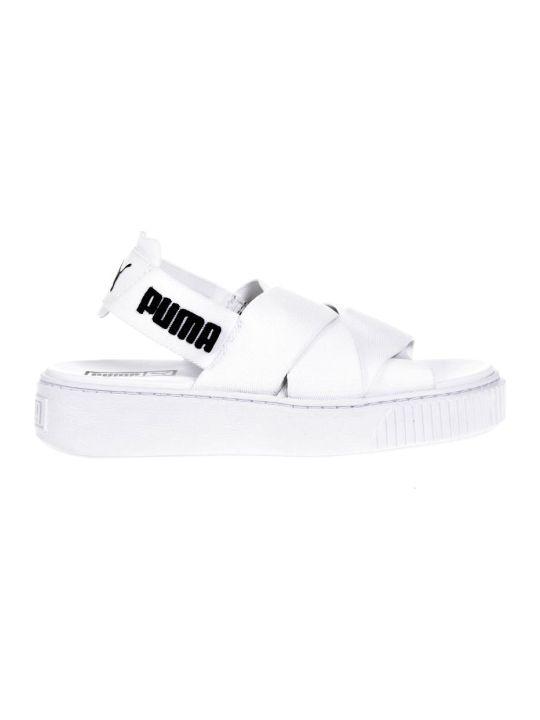 Puma Select White Elastic Straps Sandals