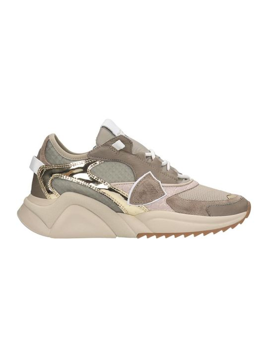 Philippe Model Eze L Sneakers In Taupe Tech/synthetic