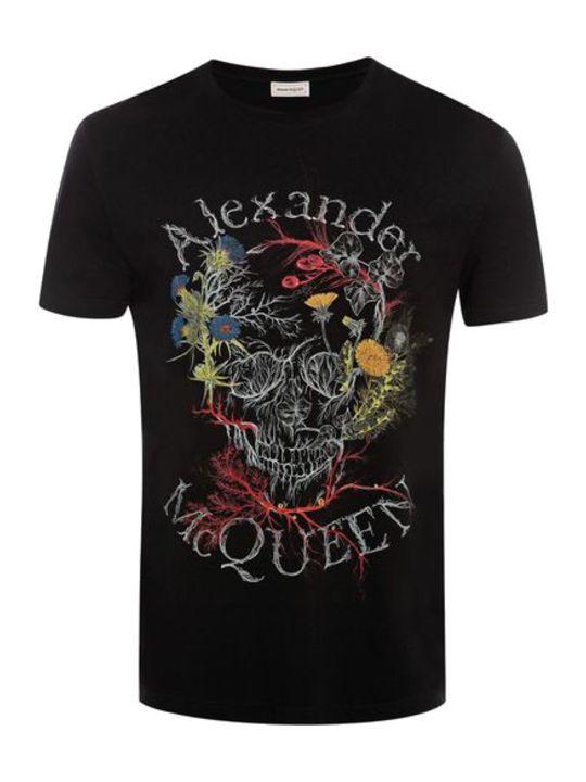 Alexander McQueen Glowing Botanical Skull T-shirt