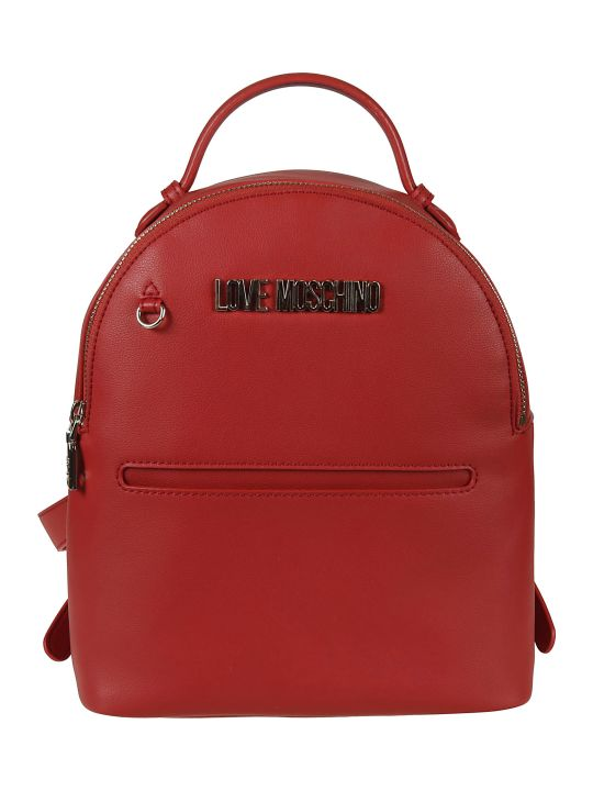Love Moschino Logo Plaque Backpack