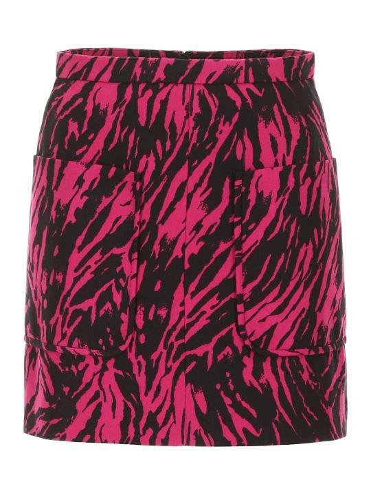 N.21 Zebra Print Mini Skirt