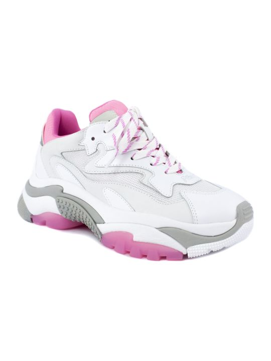 Ash White And Pink Addict Sneakers