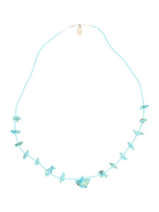 Jessie Western Turquoise Power Animal Necklace