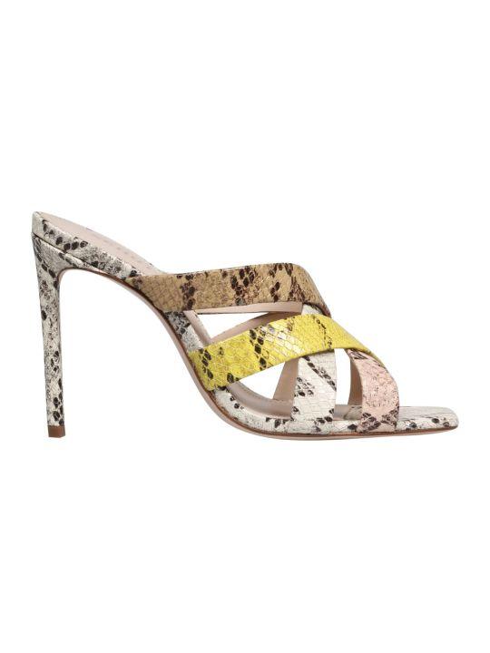 Schutz Pythoned Sandals