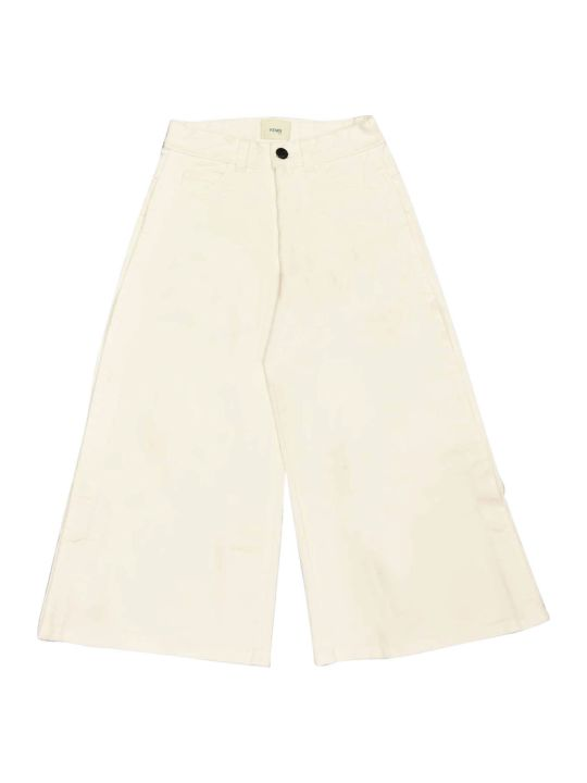 Fendi White Denim Trousers
