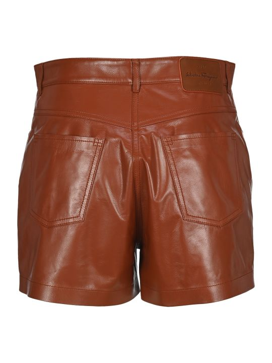 Salvatore Ferragamo Leather Shorts