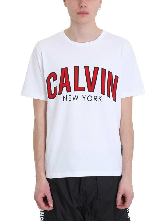 Calvin Klein Jeans White Cotton T-shirt