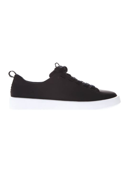 Camper Courb Black Leather Sneakers