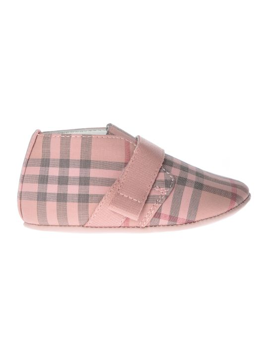 Burberry Charlton Checked Print Strapped Sneakers
