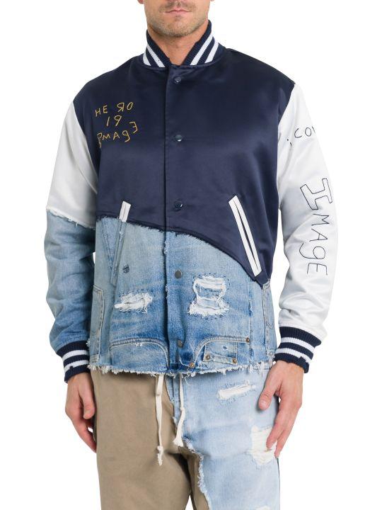 Greg Lauren Patchwork Varsity Jacket
