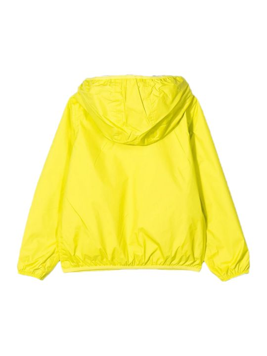 K-Way Green Contrast Zip Up Jacket