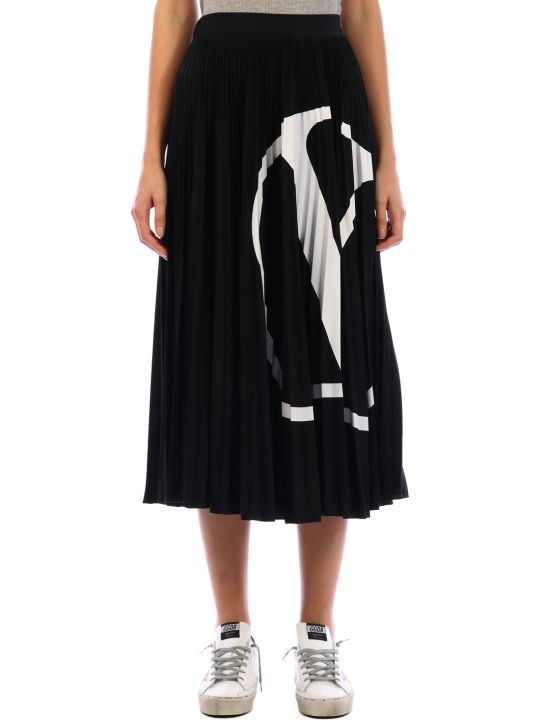 Valentino Pleated Skirt Vlogo