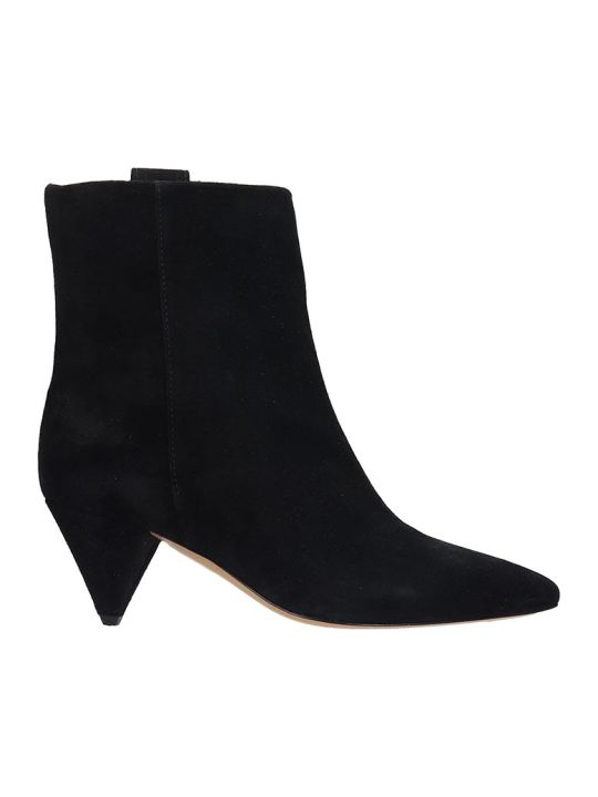 The Seller High Heels Ankle Boots In Black Suede