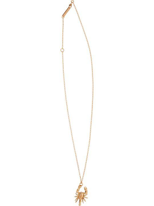 AMBUSH Gold Scorpion Charm Necklace